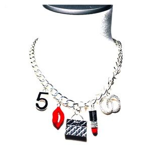 Lipstick 💄 Purse 👛 Lips 👄 Number 5 Necklace